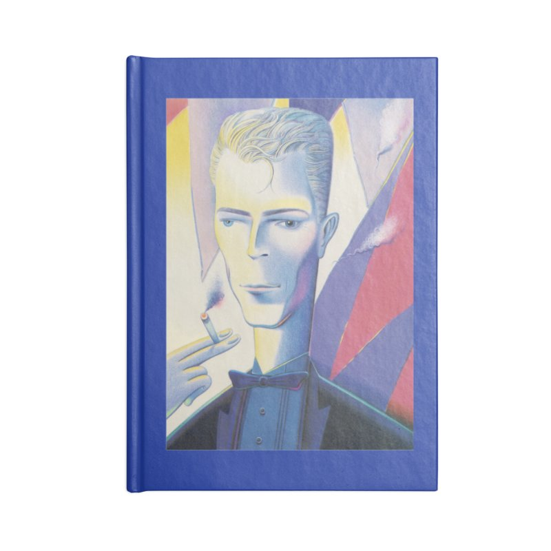 David Bowie Accessories Blank Journal Notebook by Dave Calver's Shop