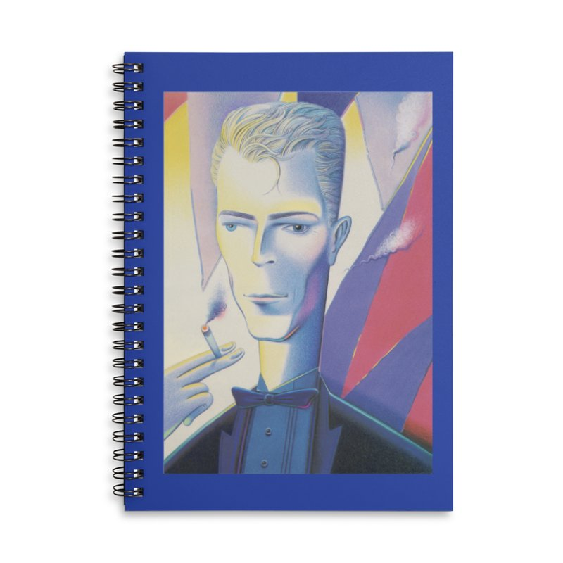 David Bowie Accessories Lined Spiral Notebook by Dave Calver's Shop