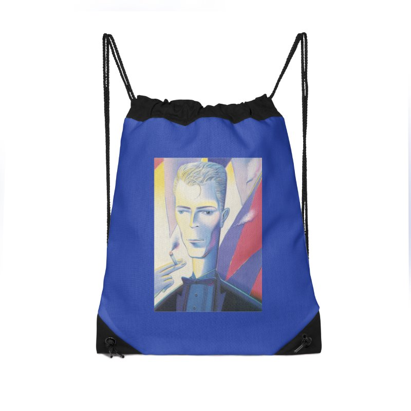 David Bowie Accessories Drawstring Bag Bag by Dave Calver's Shop