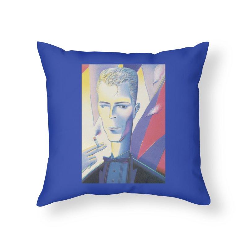 David Bowie Home Throw Pillow by Dave Calver's Shop