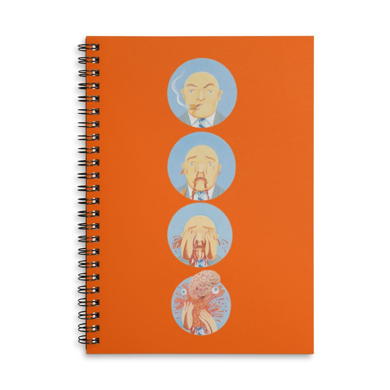 He's Gotta Go... Accessories Lined Spiral Notebook by Dave Calver's Shop