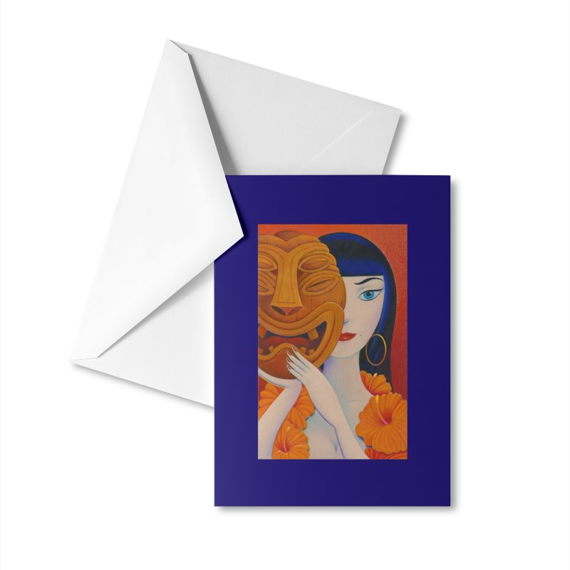 Tura With Mask Accessories Greeting Card by Dave Calver's Shop