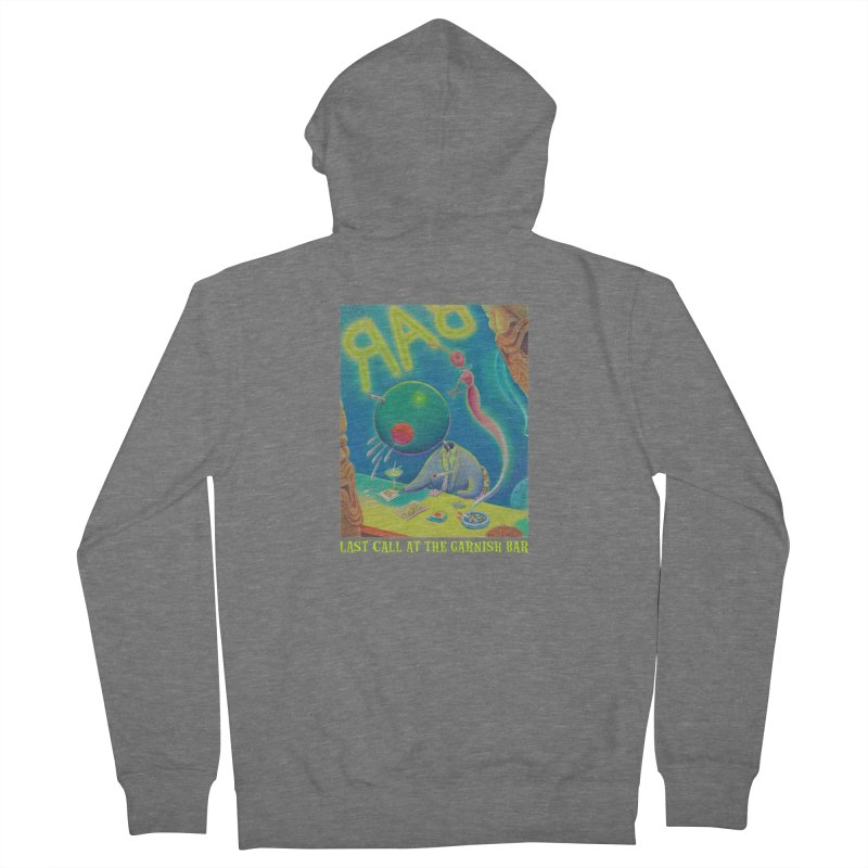 Last Call At The Garnish Bar (with title) Men's French Terry Zip-Up Hoody by Dave Calver's Shop