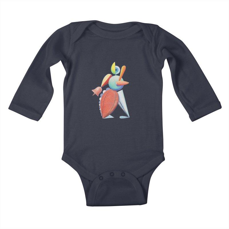 Triadic Dancer Kids Baby Longsleeve Bodysuit by Dave Calver's Shop