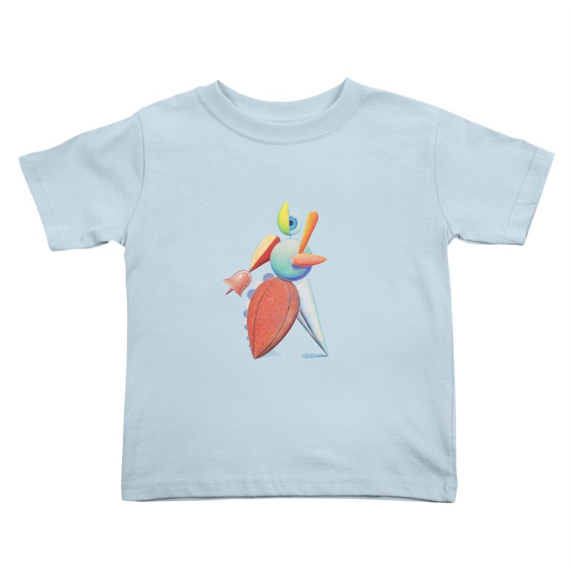 Triadic Dancer Kids Toddler T-Shirt by Dave Calver's Shop