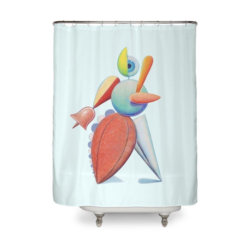 Triadic Dancer Home Shower Curtain by Dave Calver's Shop