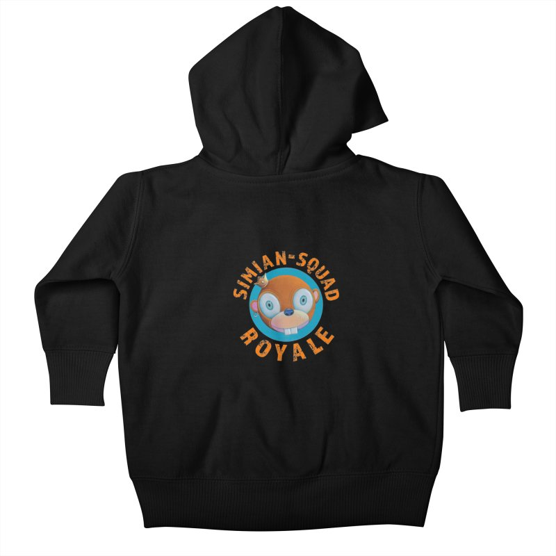 Simian-Squad Royale Kids Baby Zip-Up Hoody by Dave Calver's Shop