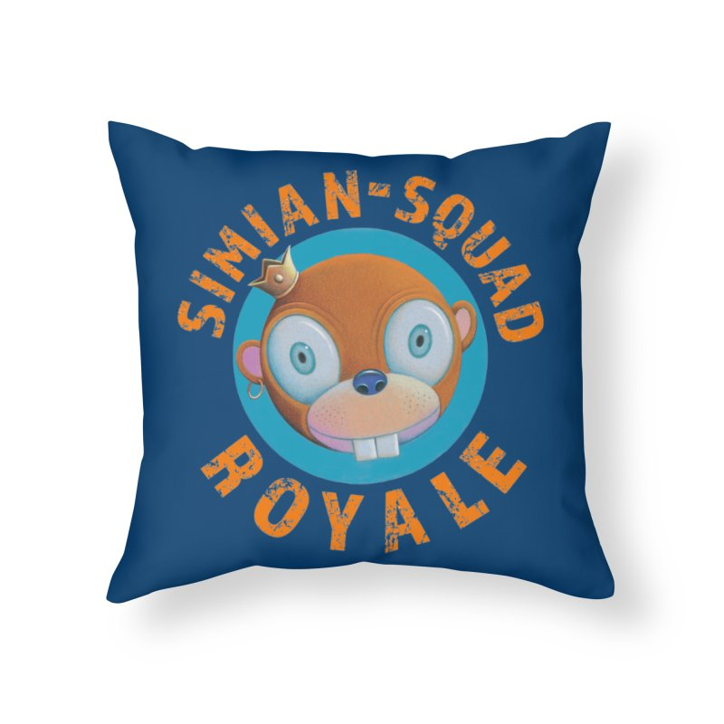 Simian-Squad Royale Home Throw Pillow by Dave Calver's Shop