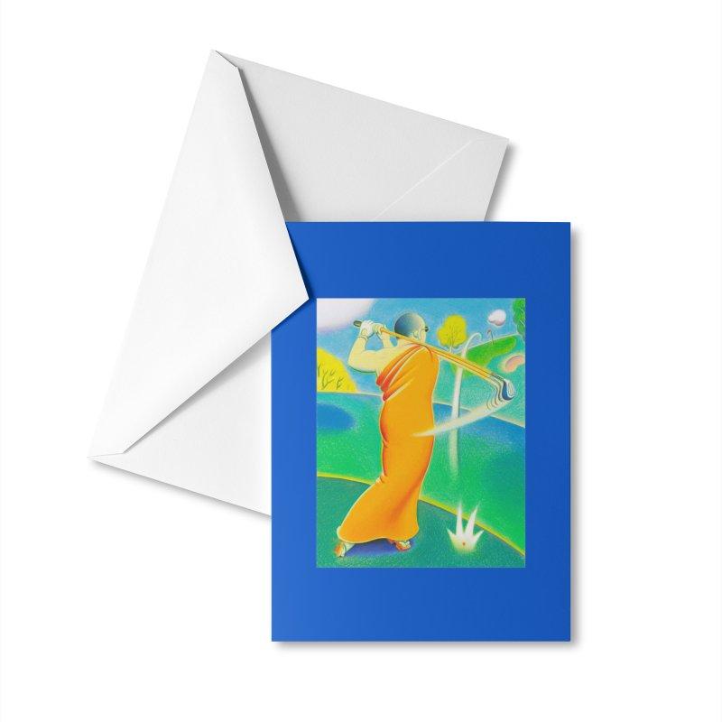 Zen Golfer Accessories Greeting Card by Dave Calver's Shop