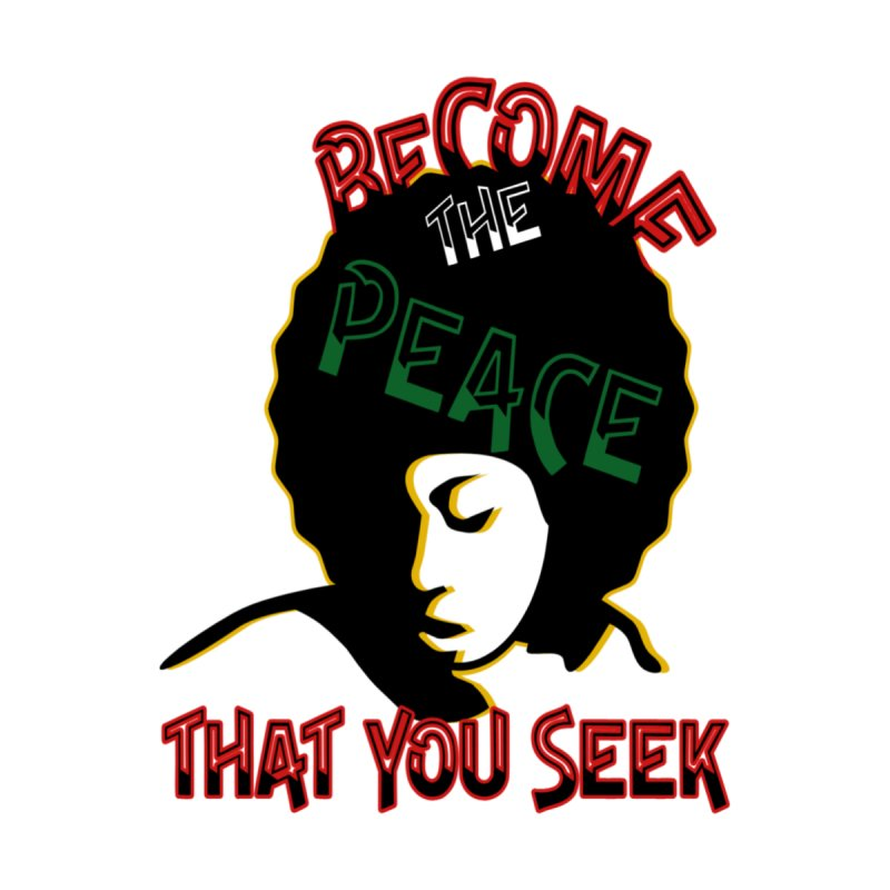 Become Peace Fitted Graphic Tees T-Shirt by Davi Nevae Creates