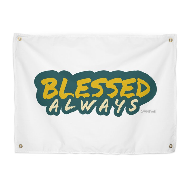 Blessed Always Castle Decor Tapestry by Davi Nevae Creates