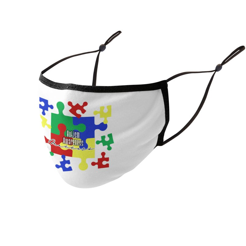 Autism Awareness Face Mask and other Accessories Face Mask by Davi Nevae Creates