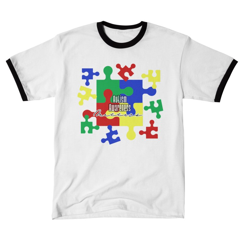 Autism Awareness Fitted Graphic Tees T-Shirt by Davi Nevae Creates