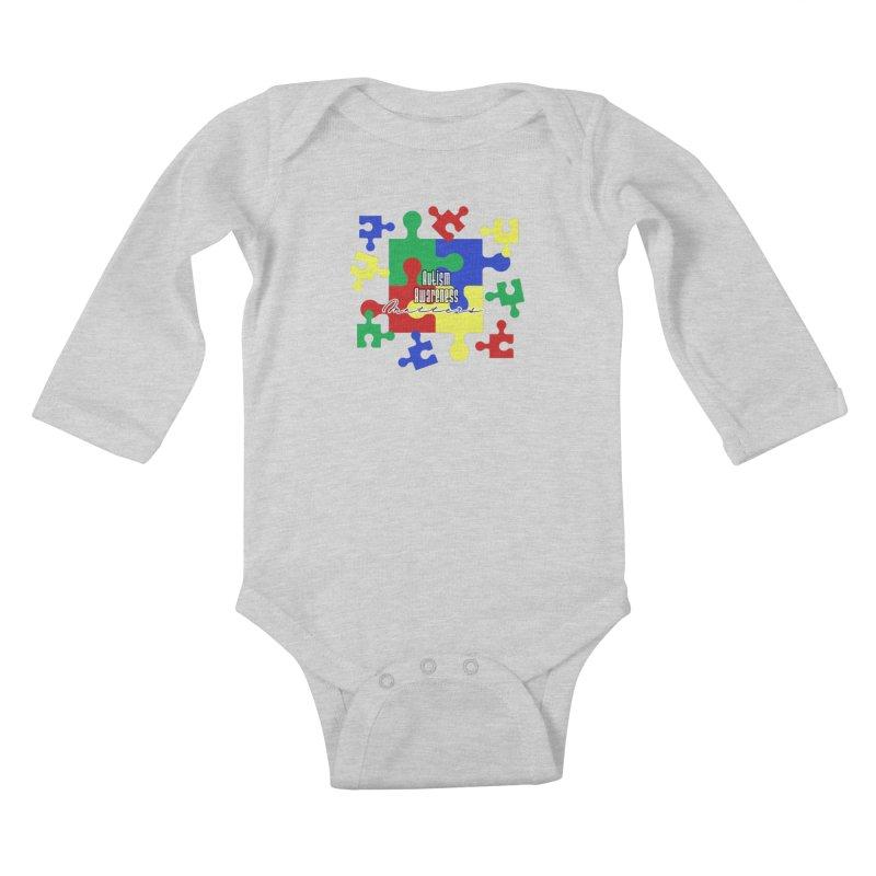 Autism Awareness Little Ones Baby Longsleeve Bodysuit by Davi Nevae Creates