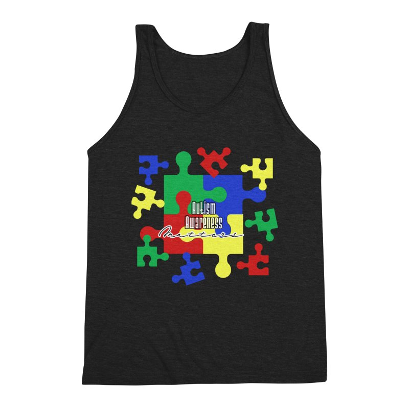 Autism Awareness Graphic Tees Tank by Davi Nevae Creates