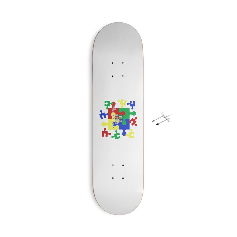 Autism Awareness Face Mask and other Accessories Skateboard by Davi Nevae Creates