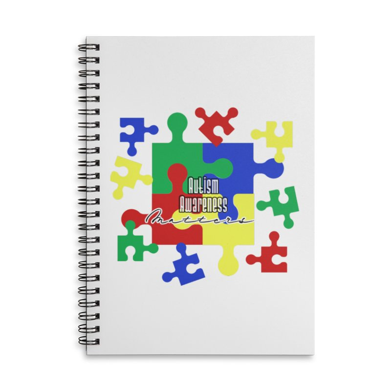 Autism Awareness Face Mask and other Accessories Notebook by Davi Nevae Creates