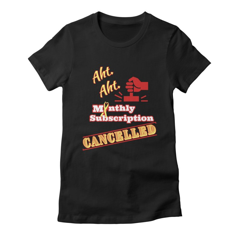 Aht.Aht. Fitted Graphic Tees T-Shirt by Davi Nevae Creates