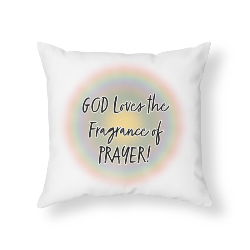 Prayer Home Decor Throw Pillow by Davi Nevae Creates