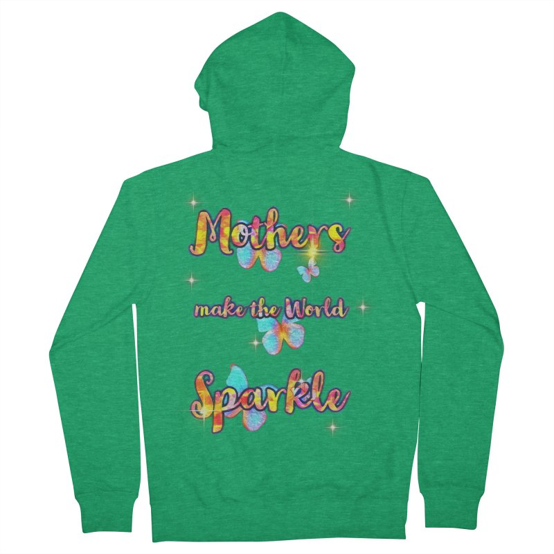 Mothers Graphic Tees Zip-Up Hoody by Davi Nevae Creates
