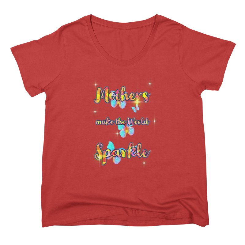 Mothers Fitted Graphic Tees Scoop Neck by Davi Nevae Creates