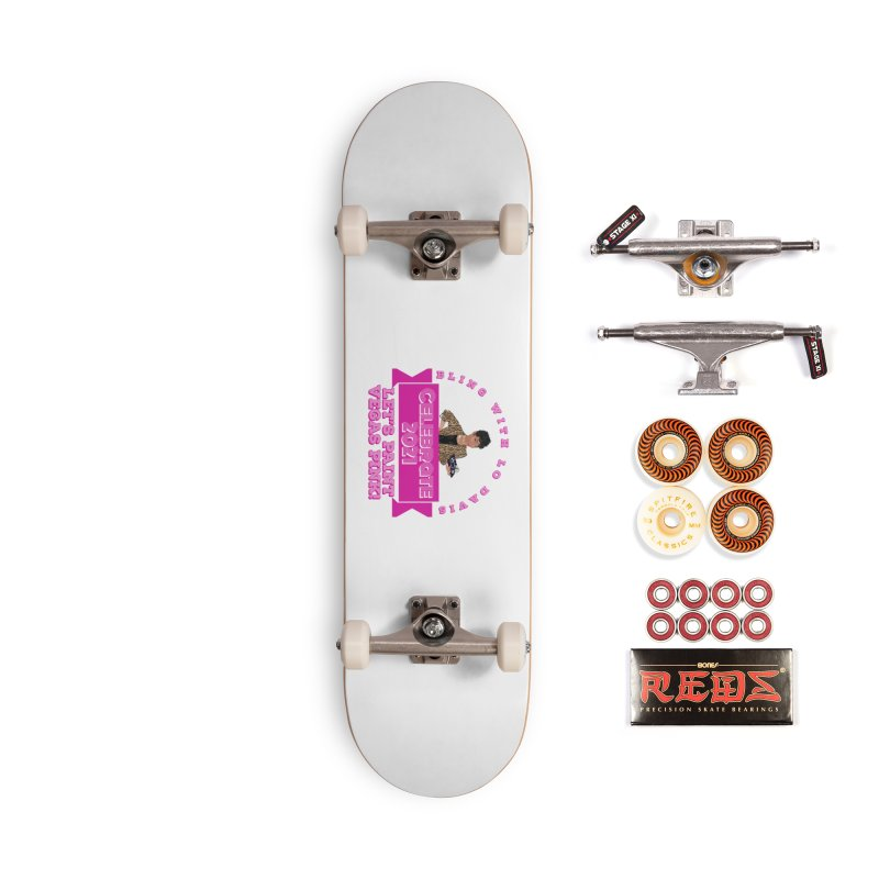 Bling with Lo Davis Vegas 2021 Face Mask and other Accessories Skateboard by Davi Nevae Creates