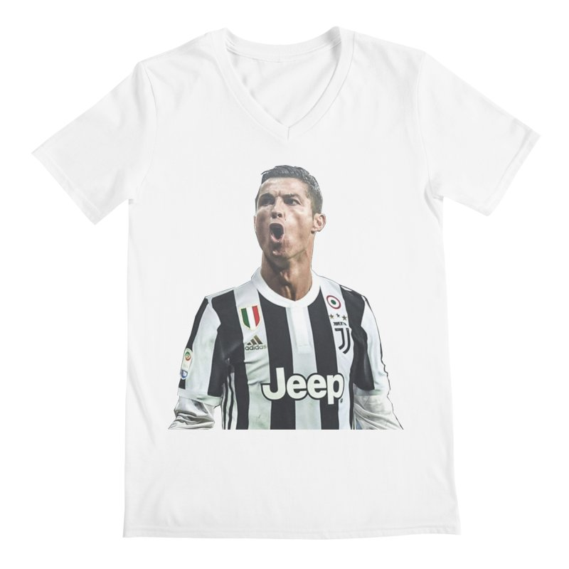 Cristiano Ronaldo Juventus Men s V-Neck by DavidAgoston s Artist Shop 90996e5d2