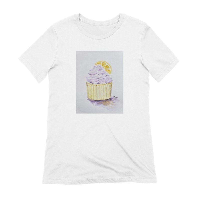 Lemon Lavender Cupcake Women's T-Shirt by Davis Inspired Creations