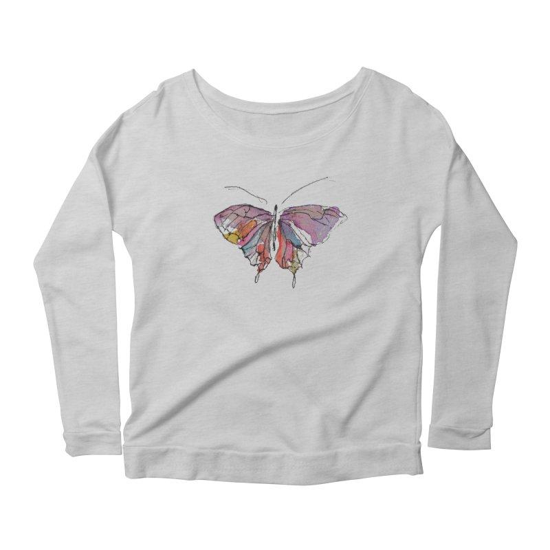 Simple Butterfly Women's Longsleeve T-Shirt by Davis Inspired Creations