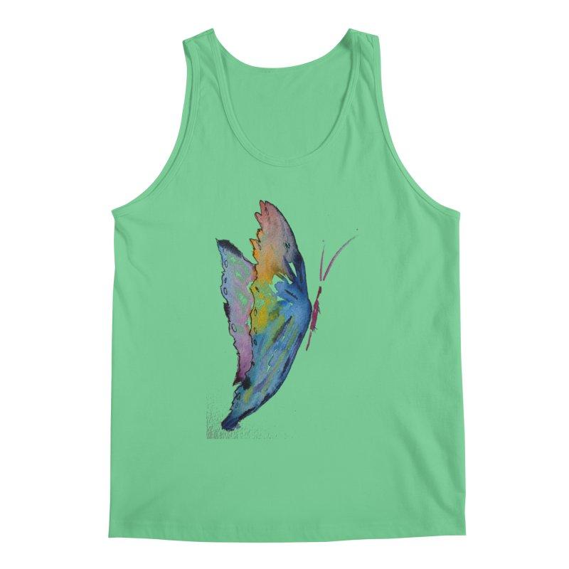 Blue Butterfly Men's Tank by Davis Inspired Creations