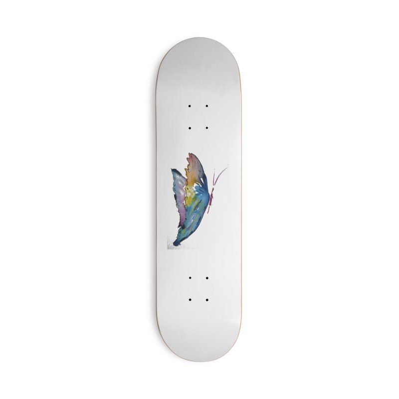 Blue Butterfly Accessories Skateboard by Davis Inspired Creations