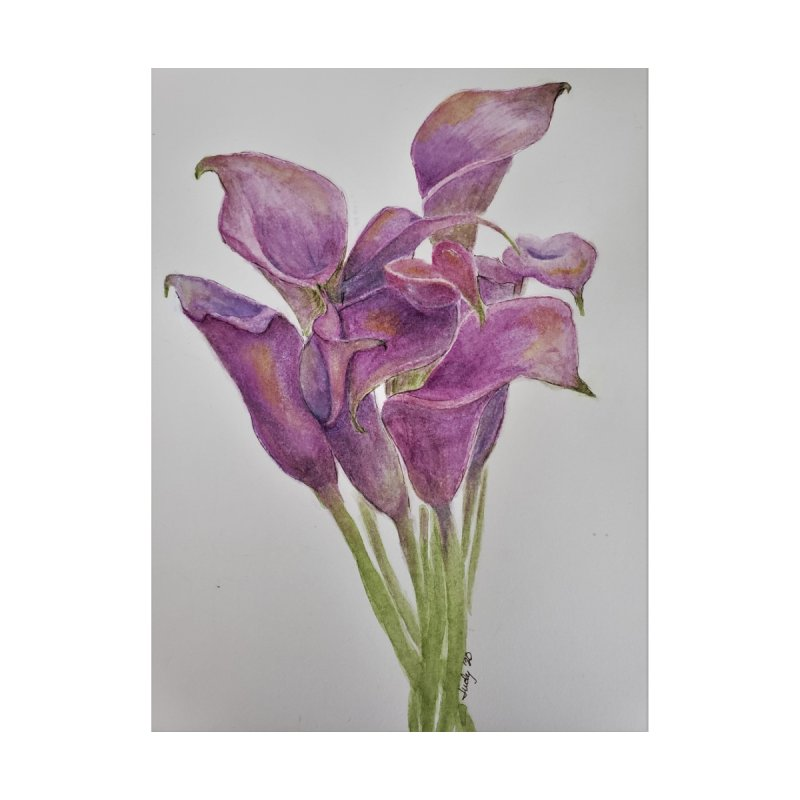 Calla Lily Home Fine Art Print by Davis Inspired Creations