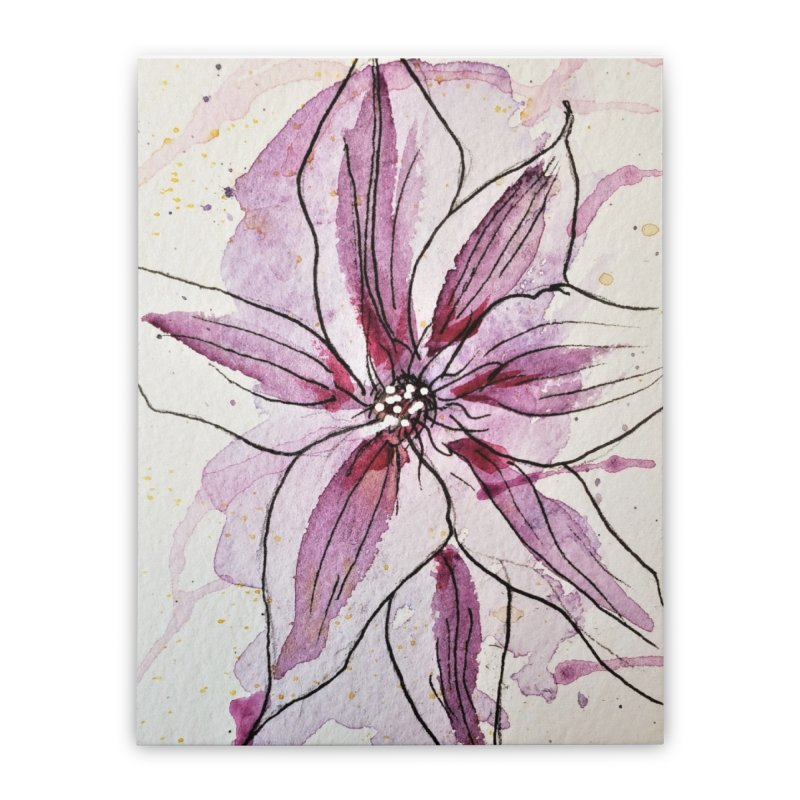 Purple Lily Home Stretched Canvas by Davis Inspired Creations