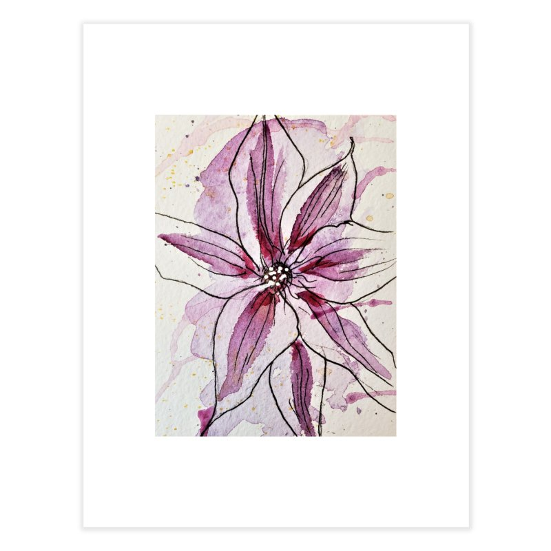 Purple Lily Home Fine Art Print by Davis Inspired Creations