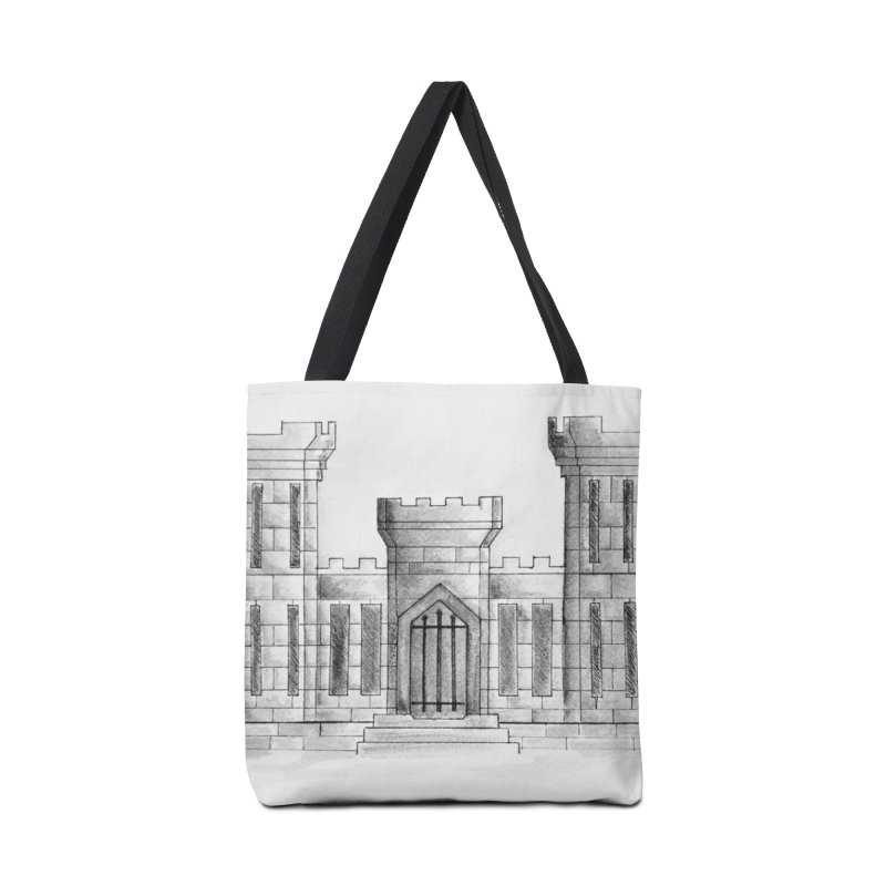 US Army Combat Engineer Castle - black & White Accessories Bag by Davis Inspired Creations