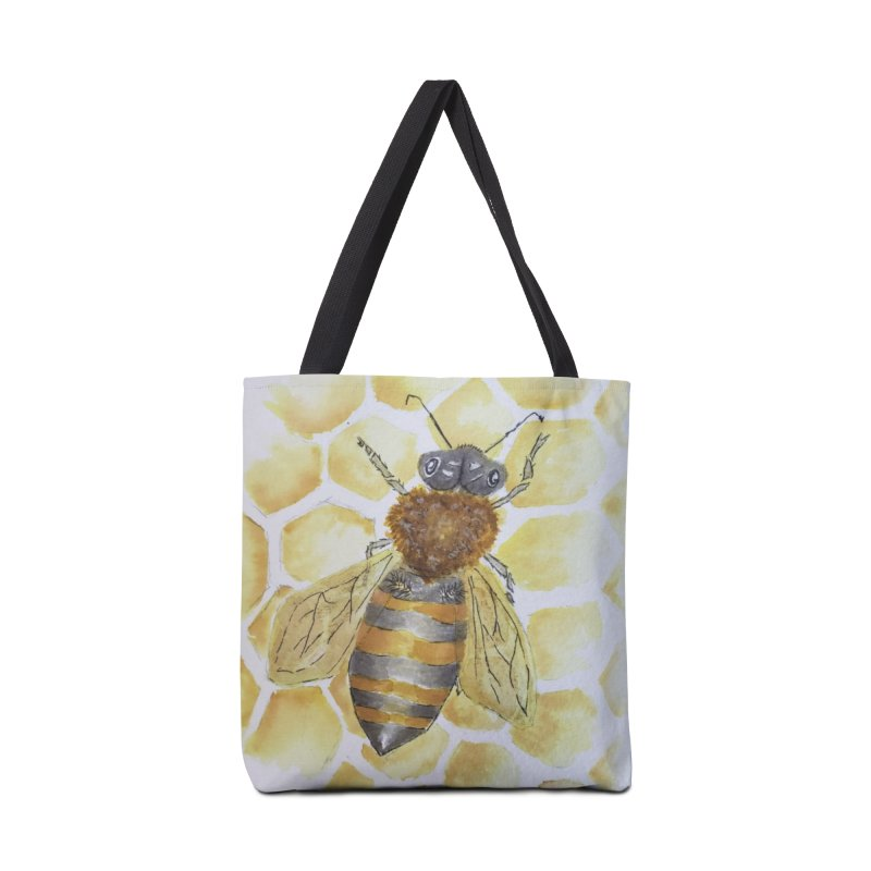 Bee on Honey Comb Accessories Bag by Davis Inspired Creations