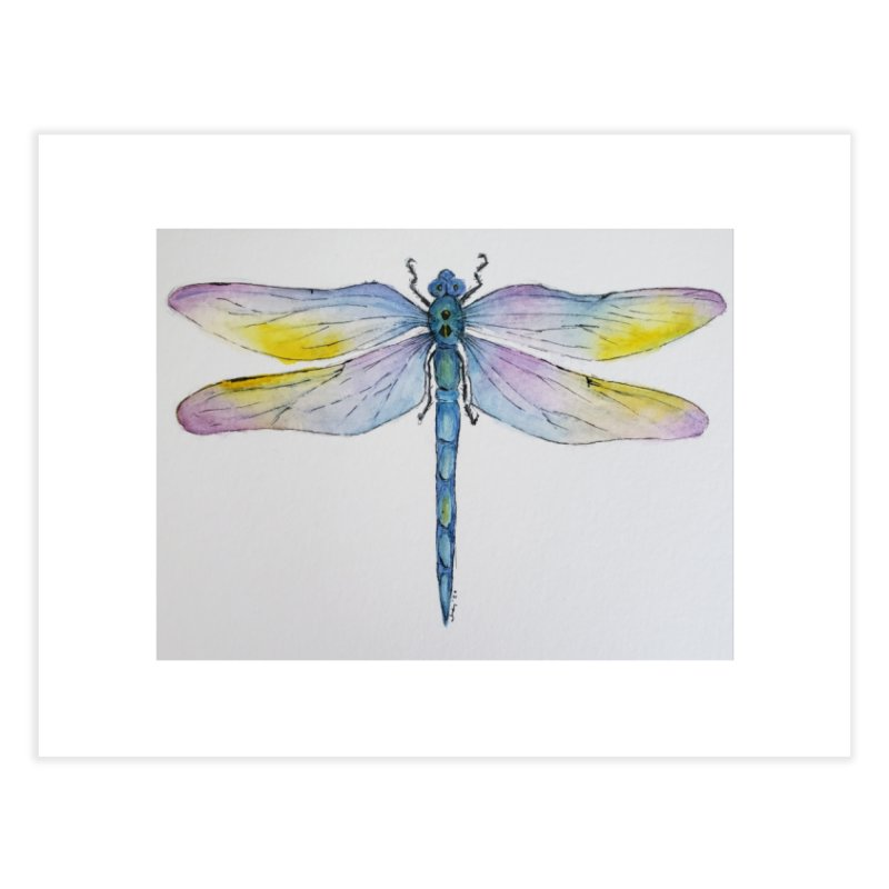Dragonfly blue Home Fine Art Print by Davis Inspired Creations