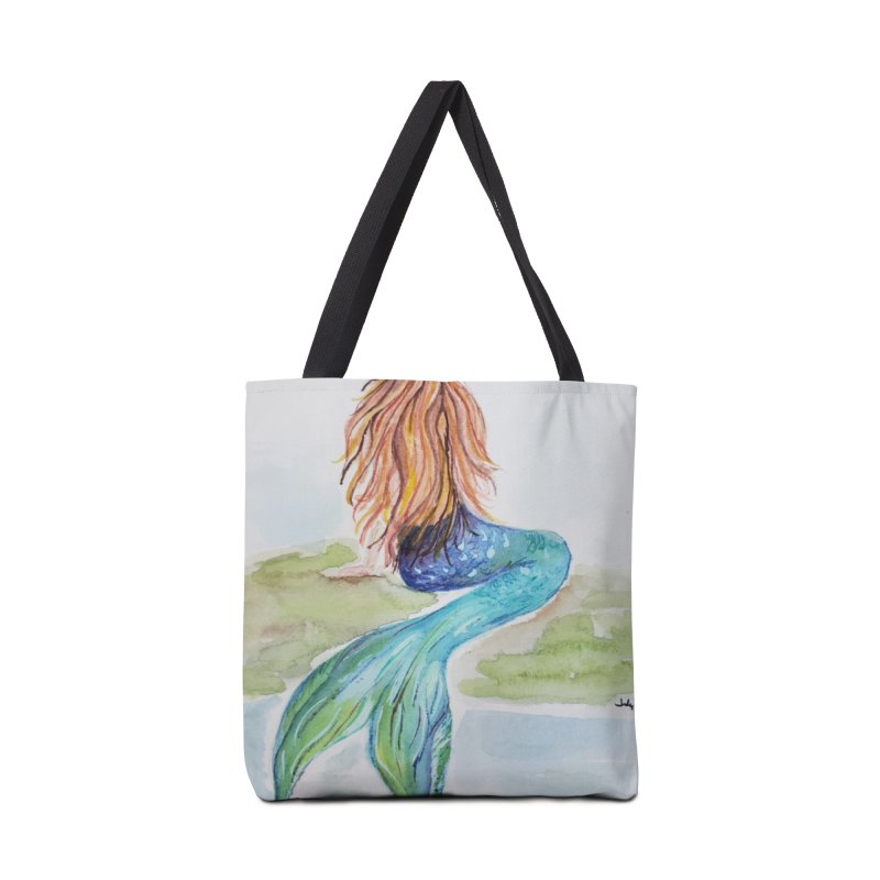 Mermaid On The Rock Accessories Bag by Davis Inspired Creations