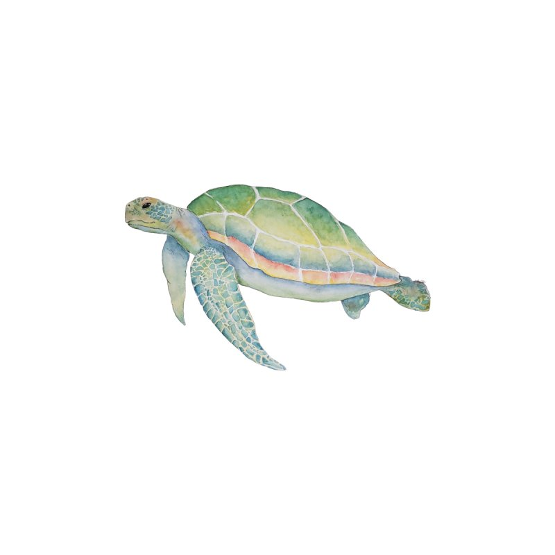 Sea Turtle 1 Home Fine Art Print by Davis Inspired Creations