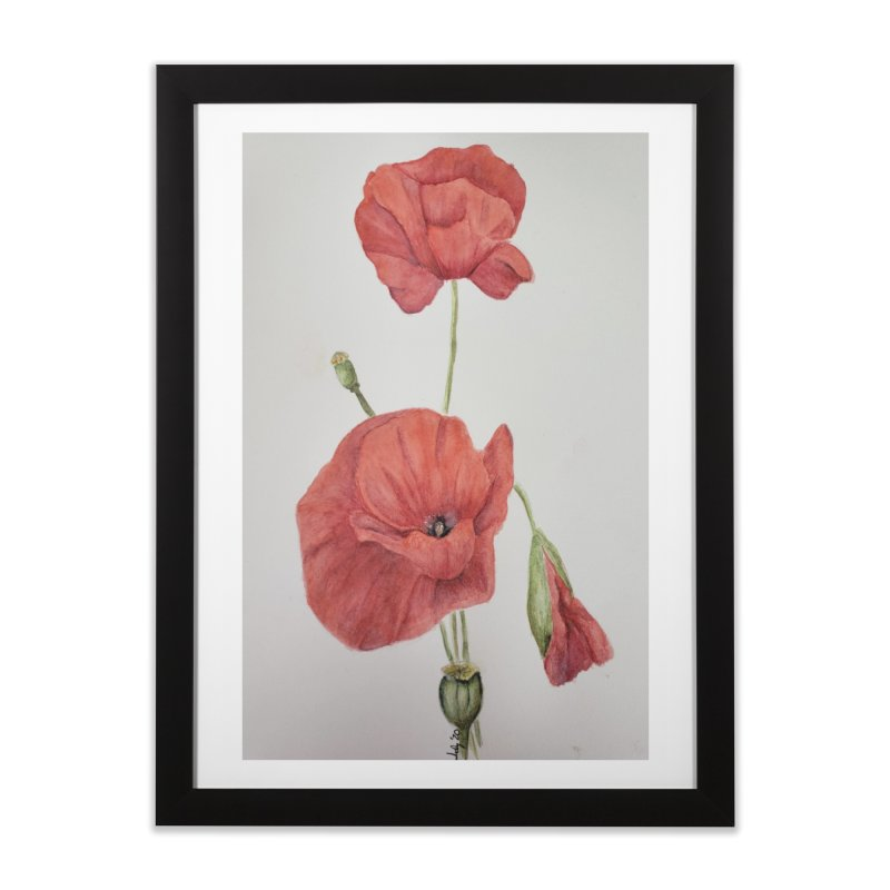 Red Poppies Home Framed Fine Art Print by Davis Inspired Creations