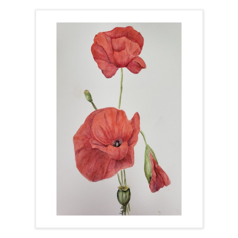 Red Poppies Home Fine Art Print by Davis Inspired Creations