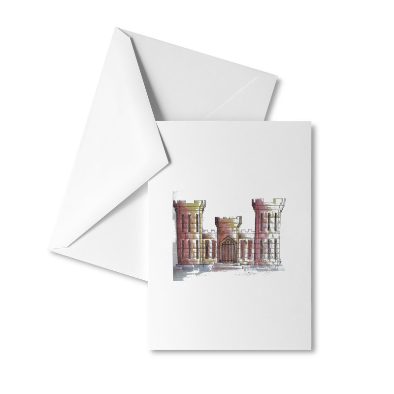 Color Engineer Castle Accessories Greeting Card by Davis Inspired Creations