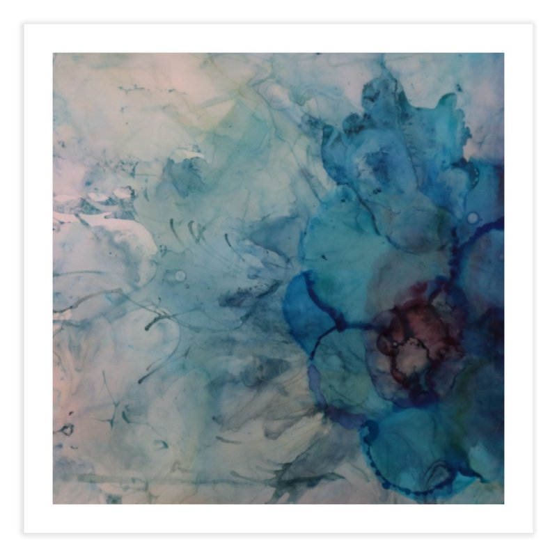 Blue Floral Abstract Home Fine Art Print by Davis Inspired Creations