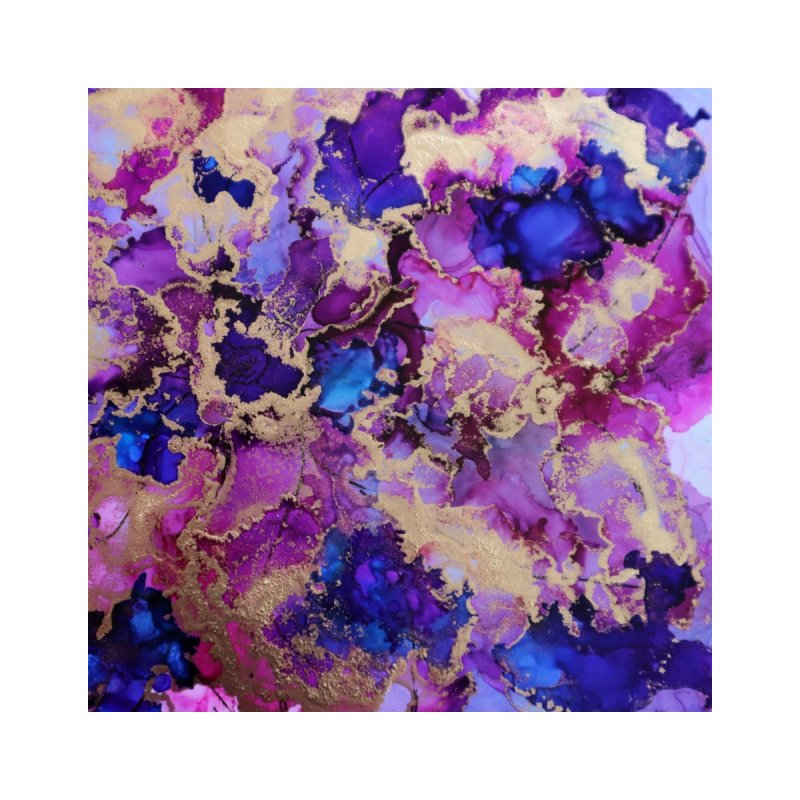 Flower Garden Abstract Home Fine Art Print by Davis Inspired Creations