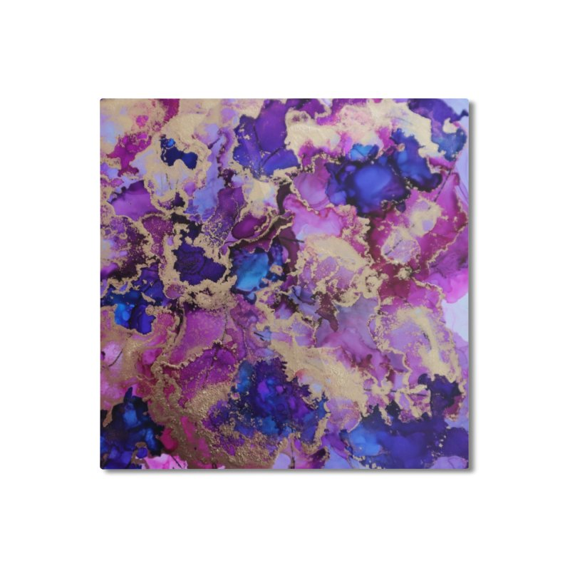 Flower Garden Abstract Home Mounted Aluminum Print by Davis Inspired Creations