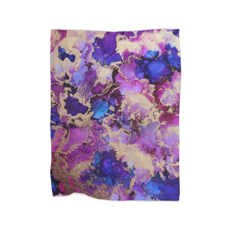 Flower Garden Abstract Home Blanket by Davis Inspired Creations