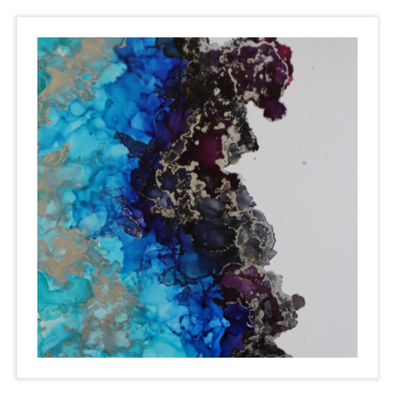 Geode Abstract Home Fine Art Print by Davis Inspired Creations
