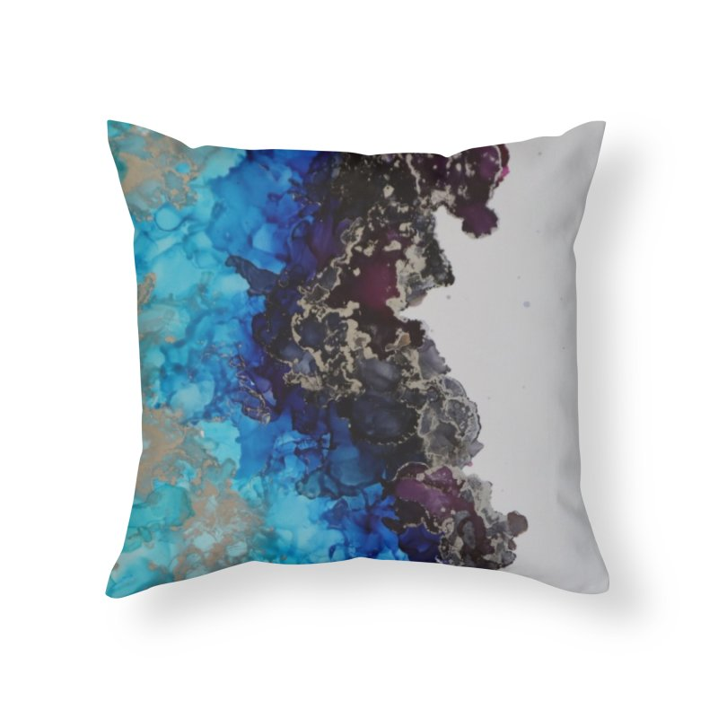 Geode Abstract Home Throw Pillow by Davis Inspired Creations