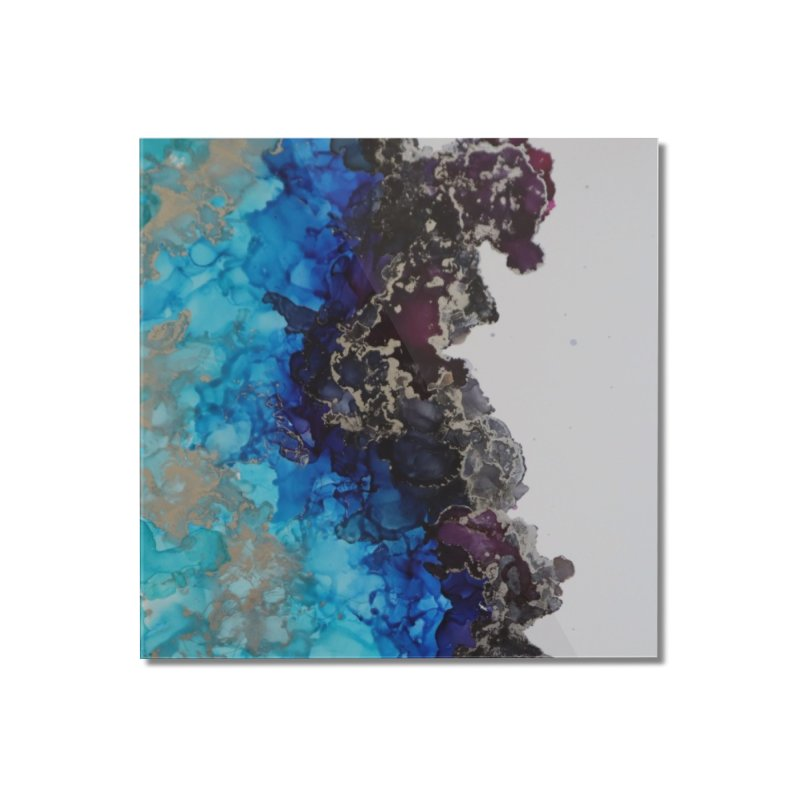 Geode Abstract Home Mounted Acrylic Print by Davis Inspired Creations
