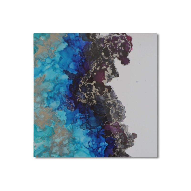 Geode Abstract Home Mounted Aluminum Print by Davis Inspired Creations